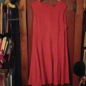 Taylor 20W red fit & flair twirl dress